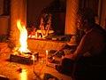 Brahmana performing fire sacrifice.JPG