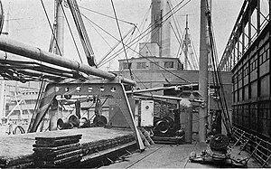 SS Dakotan - The bridge and foredeck of USS Dakotan, c. 1919