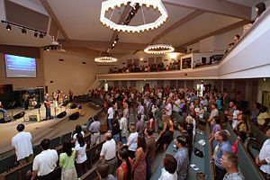 Contemporary worship - Contemporary Christian worship in a Western congregation