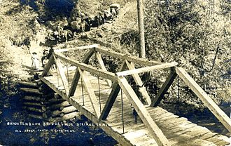 Breitenbush, Oregon - Pack trains from Detroit aided visitors as early as 1901