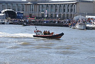 Atlantic 75-class lifeboat - Atlantic 75 B-734 at the Bristol Harbour Festival in 2008