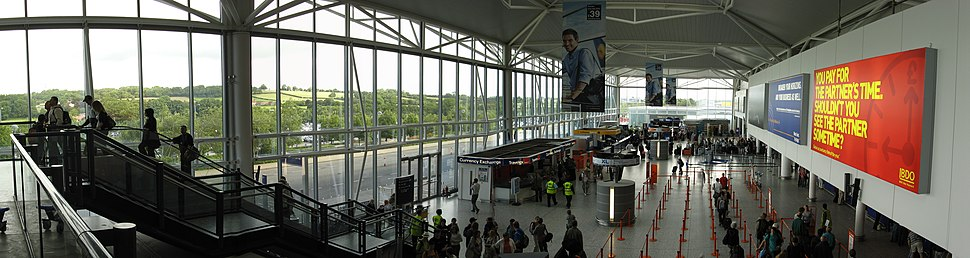 Bristol International Airport, terminal building departure area