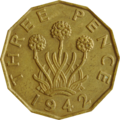 British threepence 1942 reverse.png