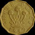 British threepence 1942 reverse.png