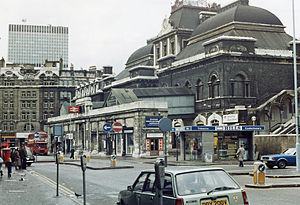 Broad Street railway station (London) - Broad Street station in 1983