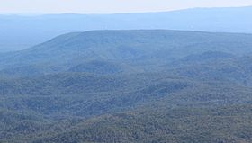 Brown Mountain, North Carolina viewed from Beacon Heights, October 2016.jpg