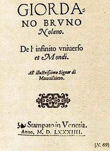 De L Infinito Universo E Mondi Wikipedia