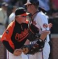 Buck Showalter and Matt Wieters on August 28, 2011.jpg