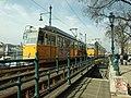 Budapešť, Belváros, tramvajová doprava na Bělehradském nábřeží.JPG