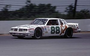Buddy Baker - Baker driving at Pocono Raceway in 1985