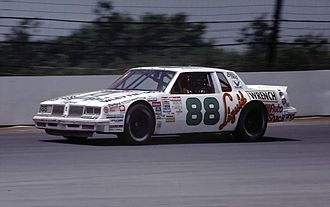 Buddy Baker - Baker driving at Pocono Raceway in 1985
