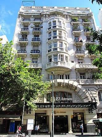 El Ateneo Grand Splendid - Facade of the building.