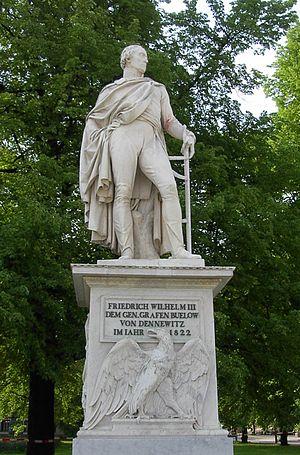 Friedrich Wilhelm Freiherr von Bülow - Statue of von Bülow, on the Unter den Linden, Berlin.