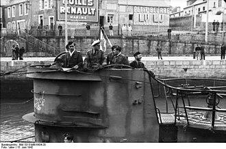 Saint-Nazaire submarine base - Image: Bundesarchiv Bild 101II MW 6434 20, St. Nazaire, U Boot einlaufend