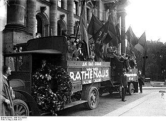Walther Rathenau - Memorial service for Rathenau, June 1923