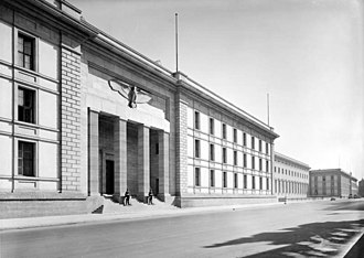 Fascist architecture - The New Reich Chancellery in Berlin, Germany.