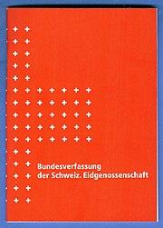 Bundesverfassung Schweiz, auf blauen Untergrund