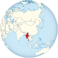 Burma on the globe (Asia centered).svg