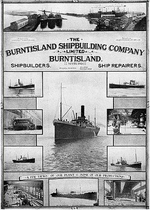 Burntisland Shipbuilding Company - 1923 advertisement