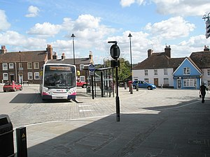 Hamble-le-Rice - Image: Bus in The Square geograph.org.uk 1464808