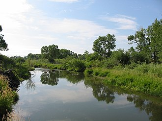Musselshell River - Banks of the Musselshell River near Selkirk.