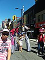 Buskers on stilts, Buskerfest, 2014 08 24 -d (15027006122).jpg