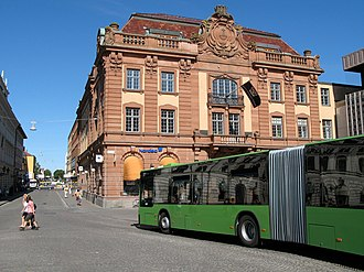 Uppsala - Stora Torget (town square): The building in the background is the Nordbankshuset.