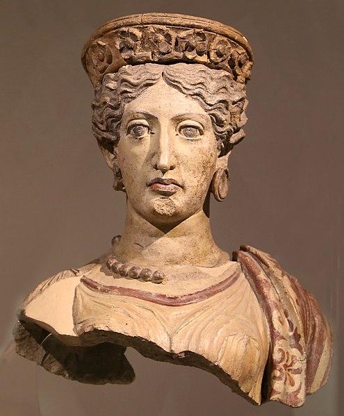 File:Busto di giunone, terracotta, falerii, tempio di celle sacro a giunone curite, 380 ac ca. 01.jpg