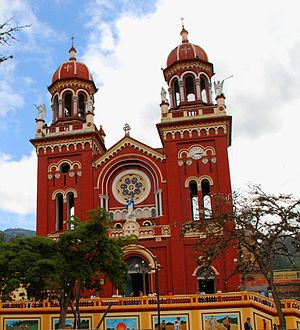 Cáqueza - Image: Cáqueza church exterior