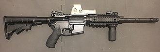 Royal Newfoundland Constabulary - Image: C8 semi automatic rifle with EO Tech