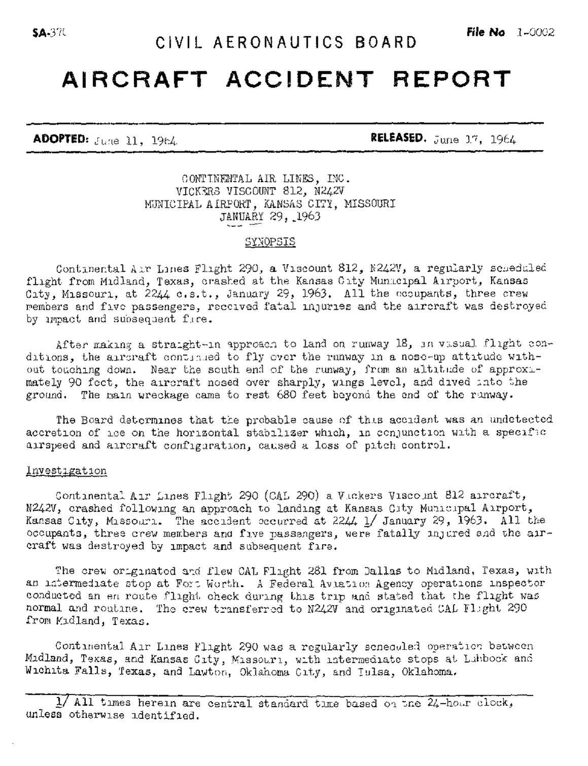 File:CAB Accident Report, Continental Airlines Flight 290