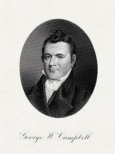 CAMPBELL, George W-Treasury (BEP engraved portrait)