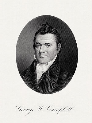 George W. Campbell - Image: CAMPBELL, George W Treasury (BEP engraved portrait)