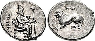 Cilicia (satrapy) - Coin of Mazaios, with Artaxerxes III as Pharaoh. Satrap of Cilicia, 361/0-334 BC. Tarsos, Cilicia.