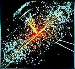 İki proton şüasının toqquşmasından yaranan partlayışın rəsmi