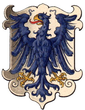 Coat of arms of the Austrian Dukes of Auschwitz, 1890 of Oswiecim, Duchy