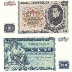 Max Švabinský - Image: CS 1000 Korun Kč 1934