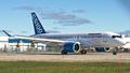 CSeries au roulage vers la piste 06 a mirabel pour son premier vol.png