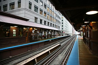 Quincy station (CTA) - Image: CTA Quincy station 2