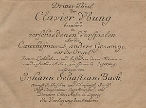 Clavier-Übung III - Title page of Clavier-Übung III