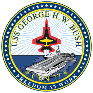 Insignia of the USS George H. W. Bush (CVN-77).