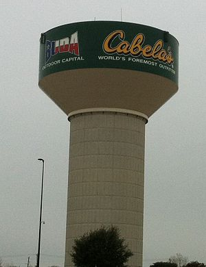 Cabela's - Water tower at Buda, Texas next to Cabela's store