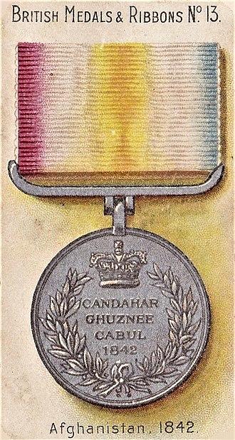 Candahar, Ghuznee, Cabul Medal - Reverse of Candahar, Ghuznee, Cabul version