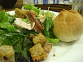 Caeser salad and bread roll (5959542000).jpg