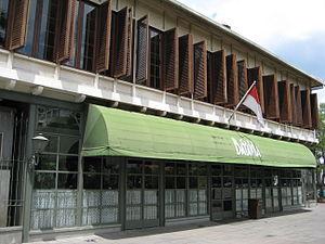Café Batavia - The entrance of Café Batavia.