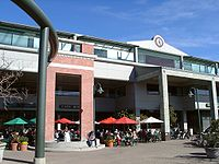 Cafe Borrone, adjacent to Kepler's Books in the Menlo Center, is a popular lunch spot in downtown Menlo Park.