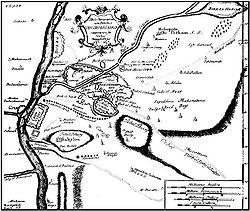 Mapa de El Cairo según dibujo de 1736