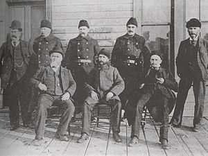 Arthur Sifton - Sifton, front row right, as Calgary's city solicitor, 1892