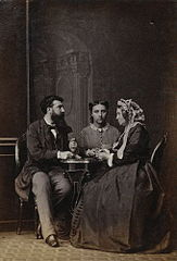 Camille Silvy with his wife and his mother 1865 photographed by Camille Silvy.jpg