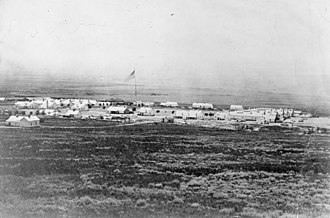 Fort Douglas - View of Camp Douglas, Utah Territory, 1866. From: Records of the Signal Corps (RG111), National Archives.